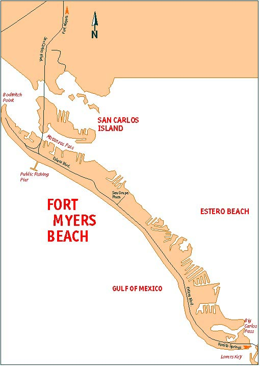 Fort Myers Beach Map